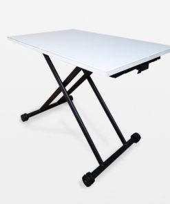 โต๊ะปรับระดับ amass สีขาว