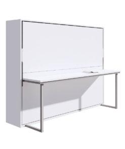 เตียงพับติดผนัง รุ่น Maxio ขนาด 5 ฟุต + โต๊ะทำงาน พับเตียง